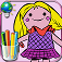 Coloring book for little girls to color drawings of classic dolls, Russian and kimmi - For iPhone and iPod